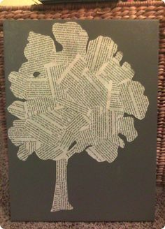 Book Page Tree Art