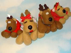 80s and 90s Toys | OMG WE HAVE THESE REINDEER. We put them out every Christmas <3