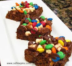 Candy Frosted Brownies