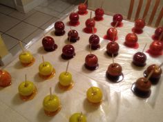Grape, Strawberry & Pineapple Flavored Candy Apples! SUGA'S SWEET ...