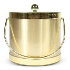 gold & lucite ice bucket