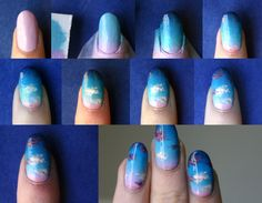 How to: Evening Sky nails.