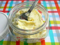 Homemade butter in a canning jar