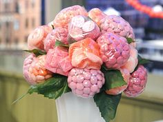 Candy flower centerpieces