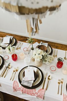 Modern Mexicana table setting