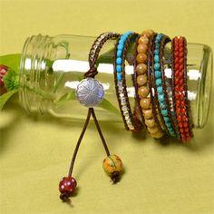 how to make beaded wrap bracelets.
