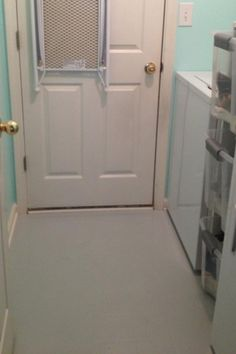 Floors on pinterest painted floors knotty pine walls for Painting over linoleum floors