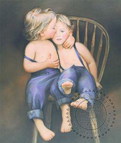 Twins - Amish - The Sanctuary: The Art of Nancy Noel
