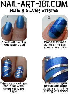 Nail Art - striping tape tutorial
