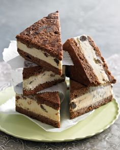 Ice Cream Sandwiches with Chocolate Almond Cake and Marcel's Caramel-Banana–Chocolate Chip Ice Cream