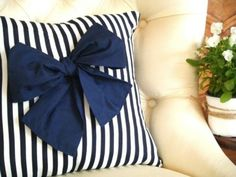 living room/bedroom - bow pillow.