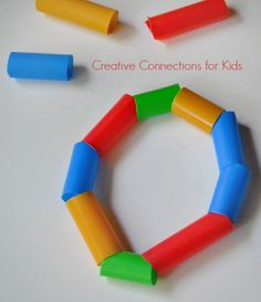 DIY Straw Bracelet - an activity for a kids party, or gifts they can make for others Creative Connections for Kids