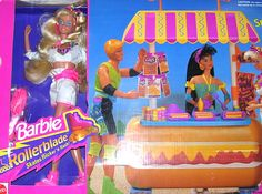 Rollerblade Barbie and Surf Snack Shop set | 18 Barbie Dolls From The '80s And '90s That Are Worth A Fortune Now