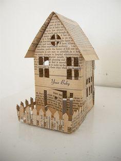 Tiny paper house.