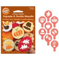 Fall Themed Cupcake and Cookie Stencil set by Wilton