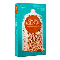 Perfect pre-workout snacks: Simply Balanced Classic Muesli Cereal - love pairing this with yogurt!