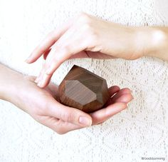 Faceted wood ring box  engagement ring box  by Woodstorming, €80.00
