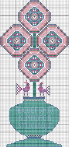 American Primitive ~ Octagon Flowers