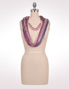 Accessories | Scarves & Wraps | Beaded Eternity Scarf | dressbarn