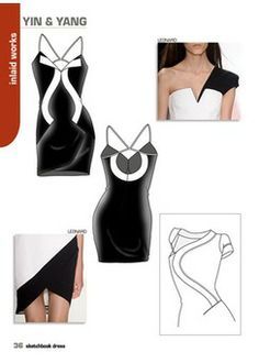 Close-Up Sketchbook Woman - Dress 15 - S/S 2015