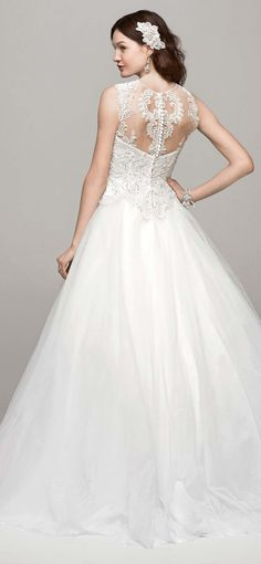Ball gown for a woodland forest wedding - #woodlandwedding #woodland #wedding #dress #weddingdress - read about woodland weddings in my article - http://www.boomerinas.com/2014/10/17/woodland-wedding-dresses-ideas-for-wedding-2-or-3-or-4-or-whatever/