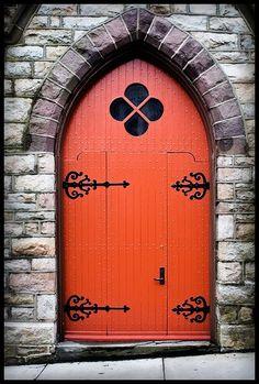 church door orange