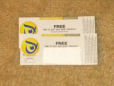 2 Coupons for 2 Free