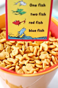 Dr. Seuss Party Goldfish Snack
