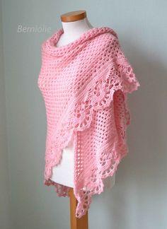 821 Pink crochet shawl | Flickr: Intercambio de fotos