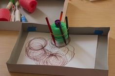 Art bot with pool noodles