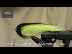 ▶ Tying Magic Carpet pike fly - www.polishquills.com - YouTube