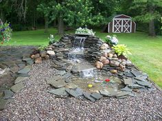 Small Pond Waterfall Ideas | Landscaping - Ponds - Pondless Waterfall Packages