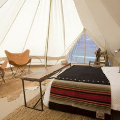 Meriwether super tents are one of the gold standards of glamping camping.