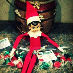 Elf on the shelf ideas on pinterest elf shelves and snowman for Elf on the shelf chocolate kiss