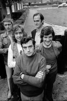 Monty Python (Graham Chapman, Eric Idle, Terry Jones, John Cleese and Michael Palin) the hair--just look at the hair!!!!!