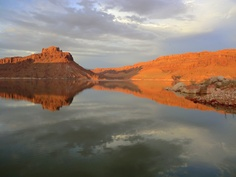 An evening reflection on Lake Powell Utah 2011. I been wanting to capture a shot like this for years.