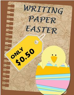 This is a writing themed paper that includes both Primary Lined Paper (K-2) and Standard Lined Paper (3-6)