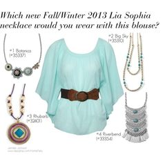 Cute necklace options for this cute blouse!