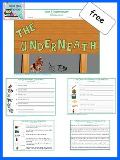 The Underneath and Supplemental Free Activities