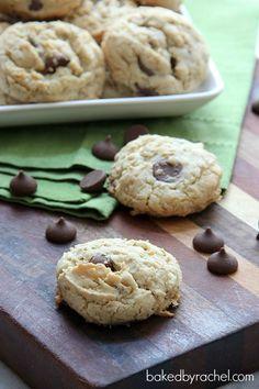 Vanilla Oatmeal Chocolate Chip Cookies Recipe from bakedbyrachel.com