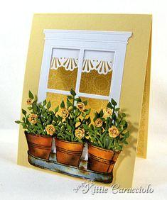 Window Pots of Roses