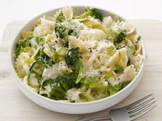 Bow-Tie Pasta with Broccoli and Potatoes. Main ingredients: Potatoes, broccoli, bow tie pasta, lettuce, cheese.