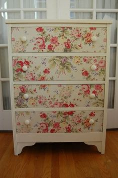 Fabric covered drawers-  and I think I have another project to use this treatment on ... hummmmmmm