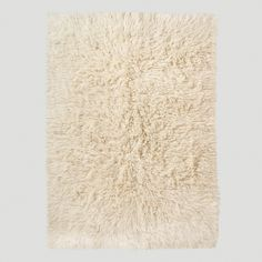 Ivory Flokati Wool Rug | World Market