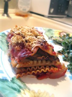 Chef AJ's Disappearing Lasagna on Amy's Nutritarian Kitchen, and a Book Giveaway!