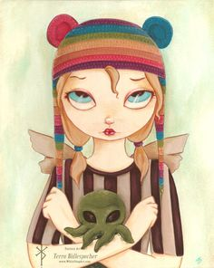 Nadya - Rainbow hat fairy with cthulhu