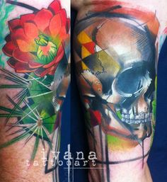 Skull and Cactus Flower
