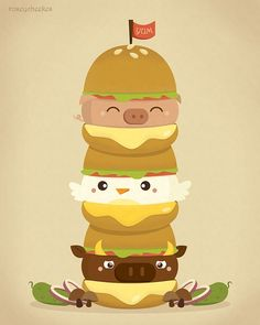 Cute cartoon chicken food - photo#16