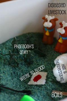 Moses and the Plagues sensory tub