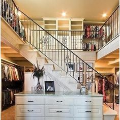 Psh! I wish we had money to spend on a closet like this...and to fill it!!!